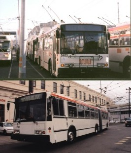 San Francisco Standard and Articulated Trolleys